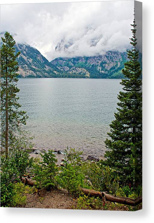 Jenny Lake In Grand Teton National Park Canvas Print featuring the photograph Jenny Lake In Grand Tetons National Park-wyoming by Ruth Hager