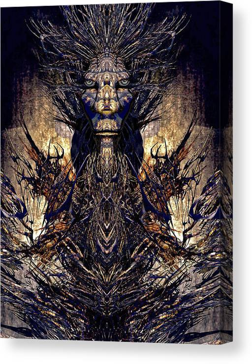 Surrealism Canvas Print featuring the painting Life Of Meditation by Robert Maestas