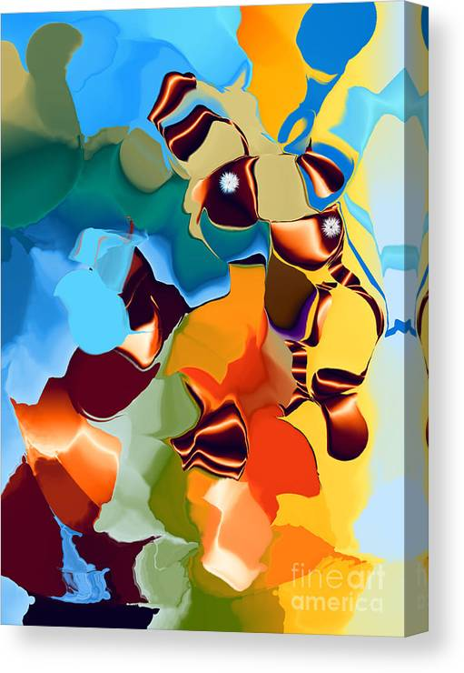 Canvas Print featuring the digital art No. 223 by John Grieder