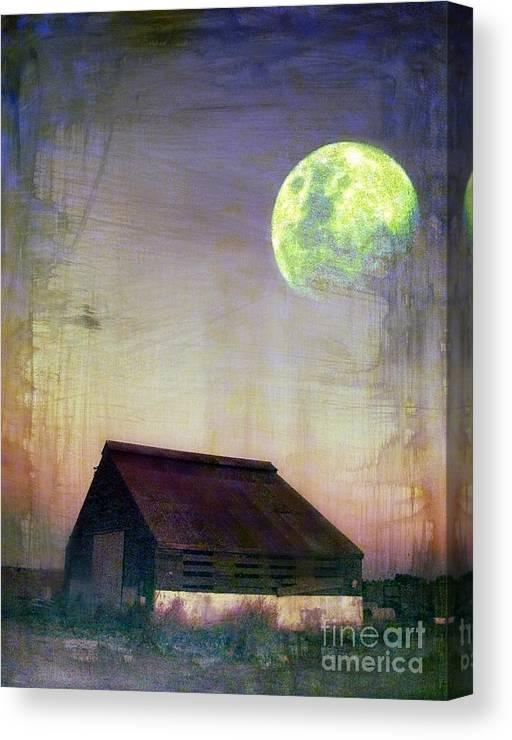 Barn Canvas Print featuring the digital art Old Barn3 by Irina Hays