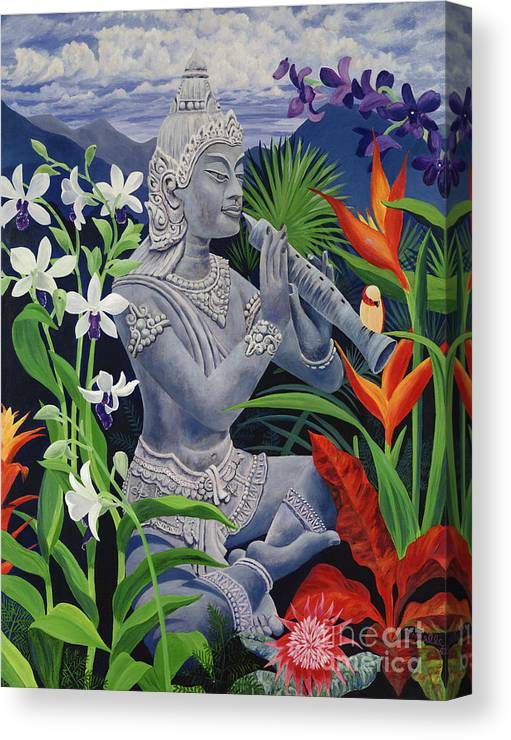 Buddah Canvas Print featuring the painting Out Of The Blue by Danielle Perry