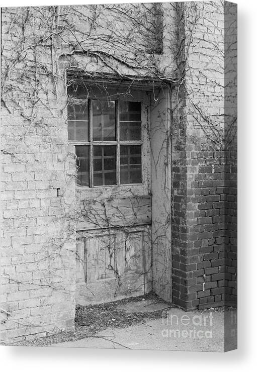 Brick Canvas Print featuring the photograph Side Door To Somewhere by Randy W Riddle