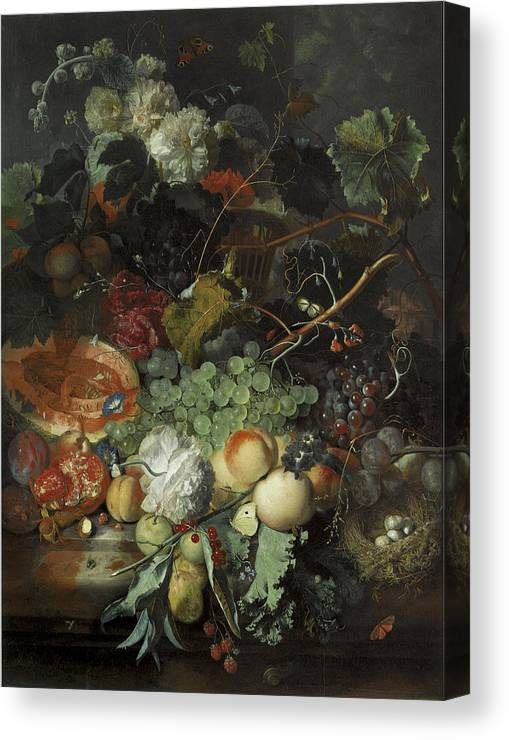 Jan Van Huysum Still Life With Fruit And Flowers Giclee Paper Print Poster