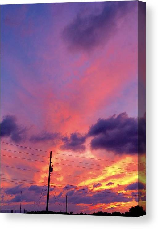Canvas Print featuring the photograph Sunset In Dunkirk by John Westman