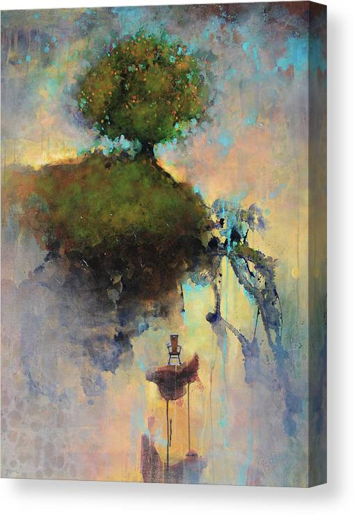 Joshua Smith Canvas Print featuring the painting The Hiding Place by Joshua Smith
