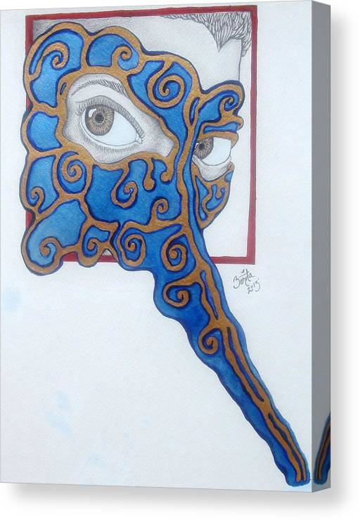 Canvas Print featuring the painting The Traitor I Know Him To Be by Benita Solomon