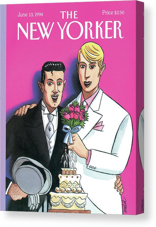 June Canvas Print featuring the painting New Yorker June 13th, 1994 by Jacques de Loustal