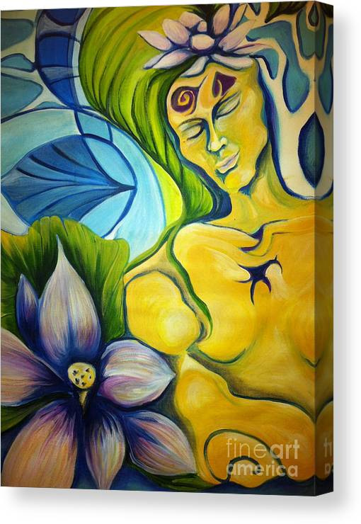 Child Canvas Print featuring the photograph Enlightened by Laura Salazar