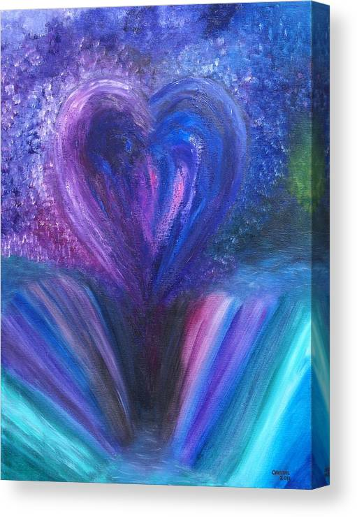 Landscape Canvas Print featuring the painting Heart's Desires And Destruction by Crystal Mccormick