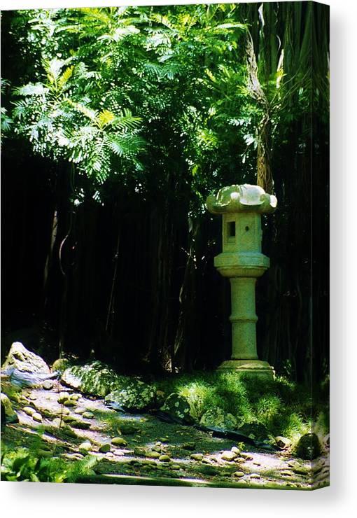 Ishidoro Canvas Print featuring the photograph Stone Lantern by Craig Wood