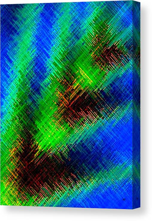 Micro Linear Canvas Print featuring the digital art Micro Linear 7 by Will Borden