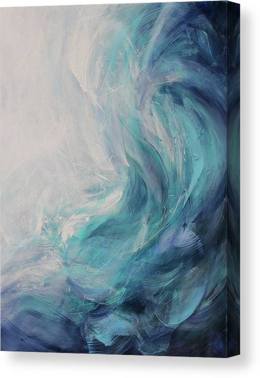 Nature Canvas Print featuring the painting Ocean Song by Tracy Male