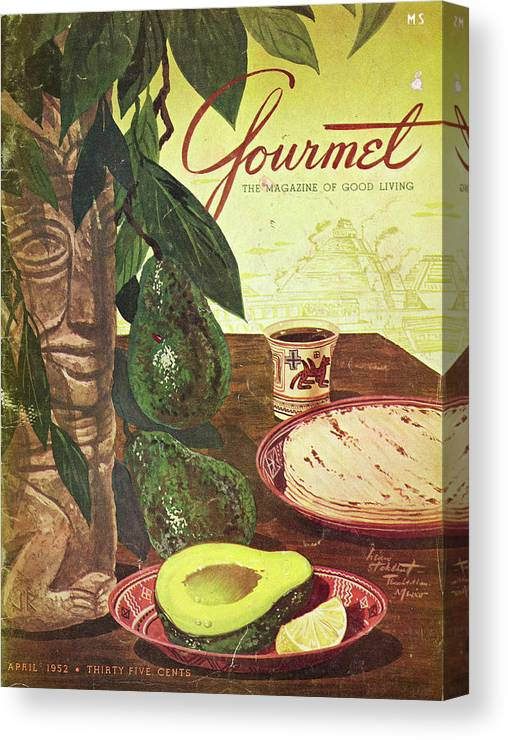 Food Canvas Print featuring the photograph Avocado And Tortillas by Henry Stahlhut
