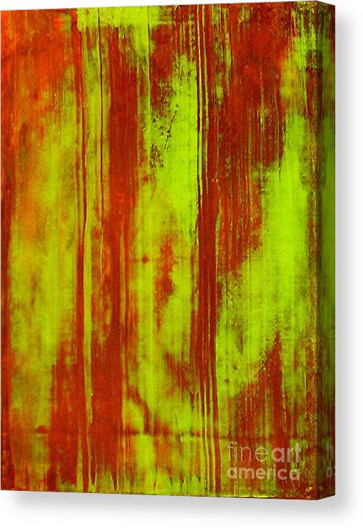 Abstract Art Canvas Print featuring the painting Bamboo Spy 1 by Teo Santa