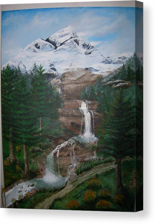 Landscape Canvas Print featuring the painting Big White One by Jack Hampton