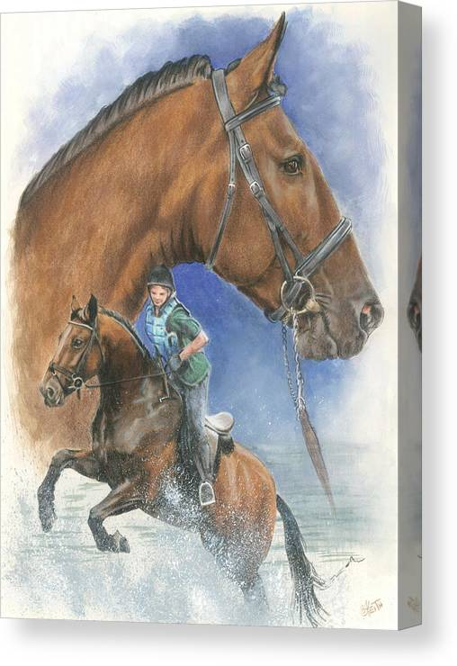 Hunter Jumper Canvas Print featuring the mixed media Cleveland Bay by Barbara Keith