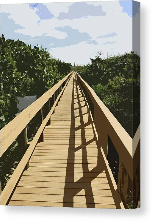 Walk Canvas Print featuring the painting Dune Walk by Allan Hughes