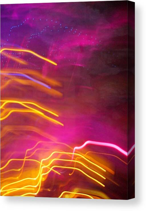 Abstract Canvas Print featuring the photograph Fingers Of Light by Lessandra Grimley