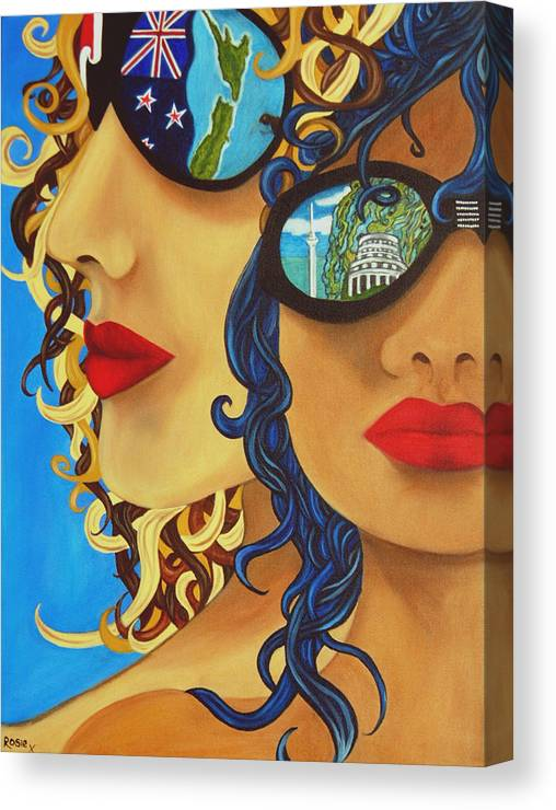 New Zealand Canvas Print featuring the painting Kia Ora by Rosie Harper