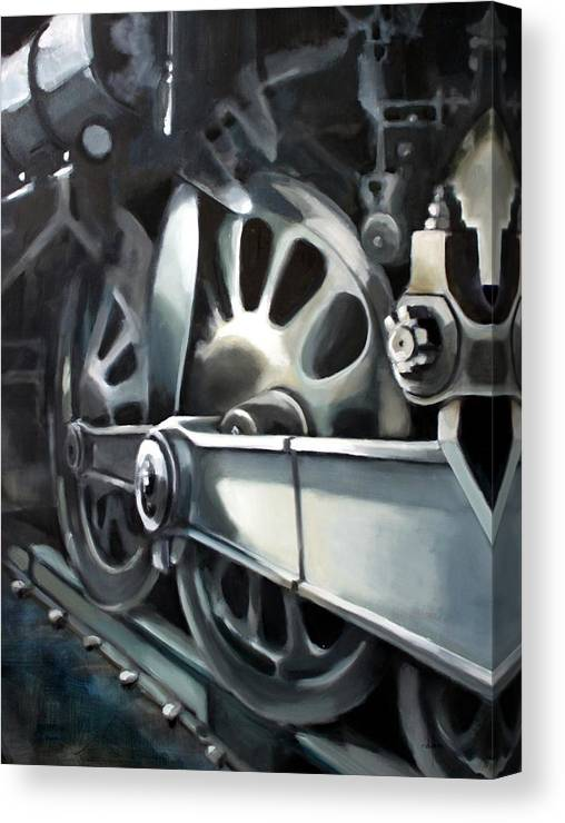 Train Canvas Print featuring the painting Loco Motion by Ronald Dykes