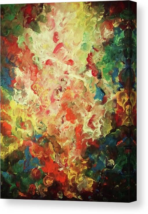 Abstract Canvas Print featuring the painting Lord Buddha In Iron Age by Pralhad Gurung