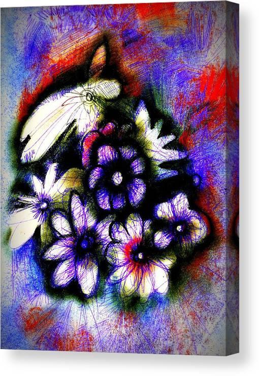 J Kamamru Canvas Print featuring the digital art Love Posey by J Kamaru