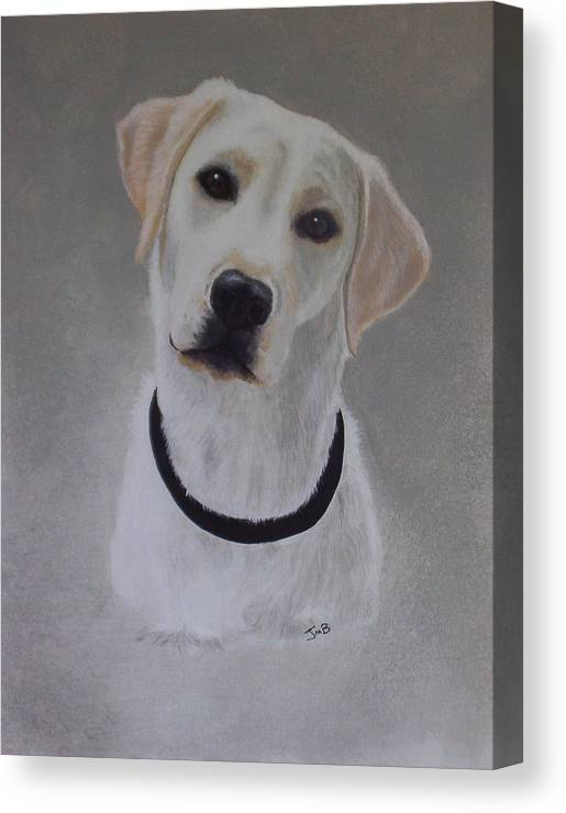 Pet Portrait Canvas Print featuring the painting Maxie by Janice M Booth