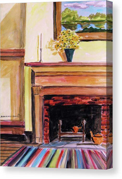 Canvas mantel
