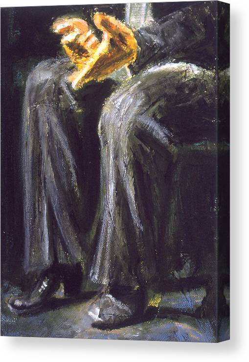 Flamenco Canvas Print featuring the painting Palmero by LB Zaftig