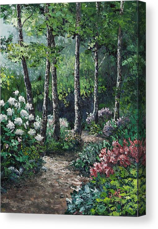 Landscape Canvas Print featuring the painting Shady Walk by Paul Illian