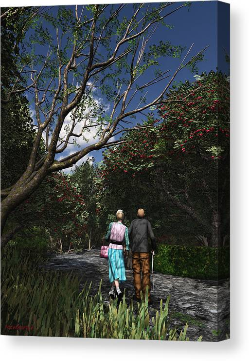 3d Canvas Print featuring the painting Sharing The Moment by Williem McWhorter