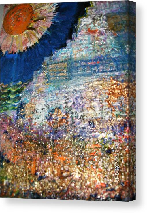 Roughterrain Canvas Print featuring the mixed media Somewhere On Jupiter by Anne-Elizabeth Whiteway