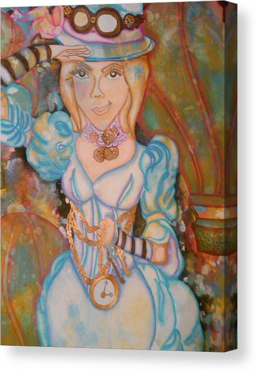 Steampunk Canvas Print featuring the painting Spirit Of Adventure by Crystal N Puckett