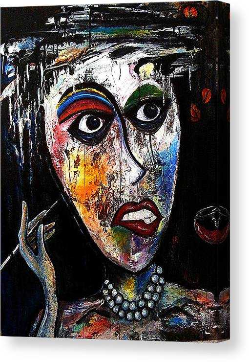 Lady Canvas Print featuring the painting The Cleaning Lady by Steffen Anderson