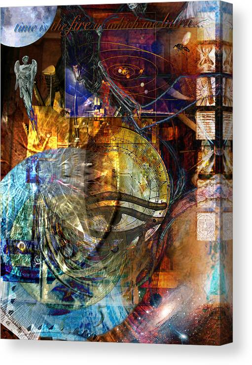 Digital Canvas Print featuring the digital art The Embers Of Memory by Kenneth Armand Johnson