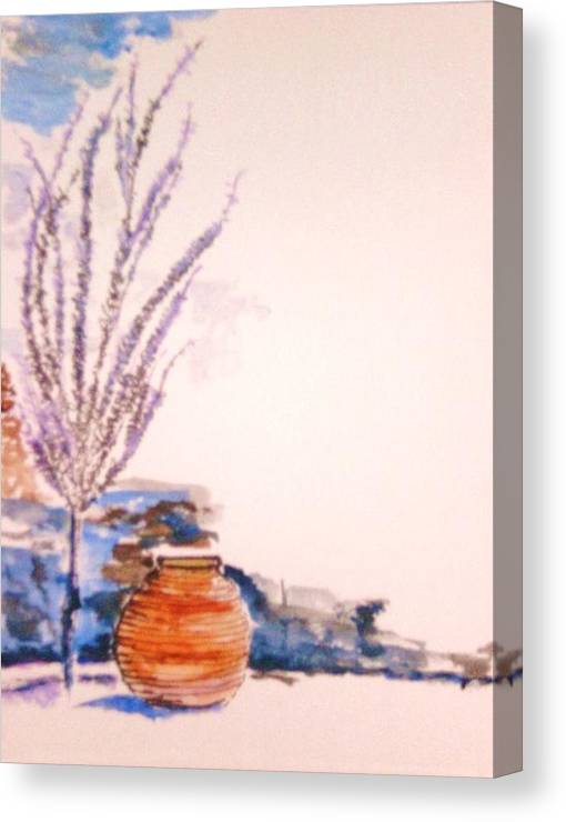 Urn Canvas Print featuring the painting The Forgotten Urn by Helena Bebirian