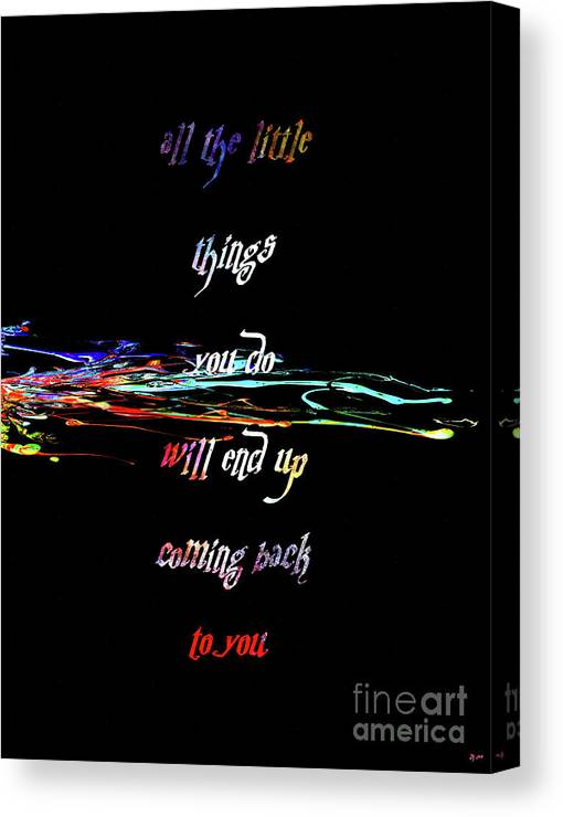 The Little Things Canvas Print featuring the mixed media The Little Things by Daniel Janda