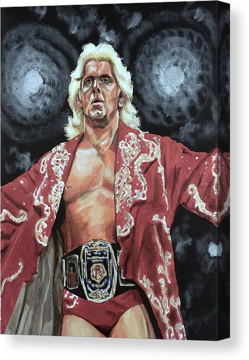 Nature Boy Canvas Print featuring the painting The Nature Boy Ric Flair by Joel Tesch