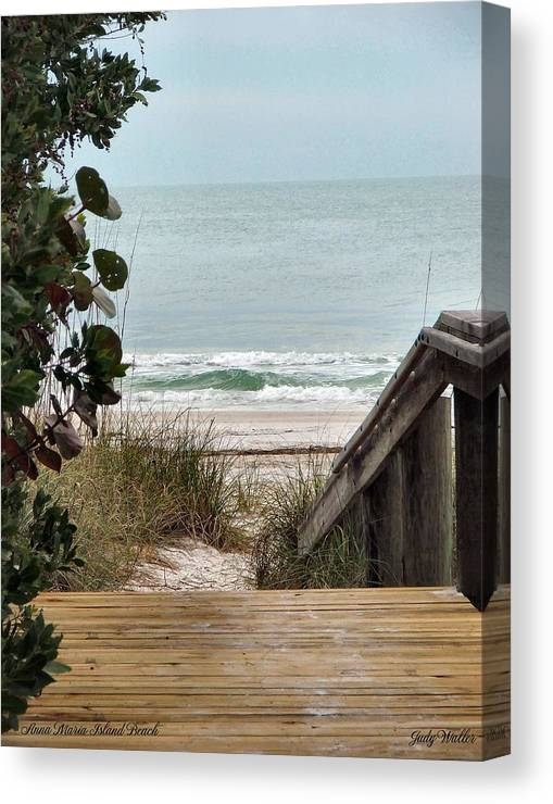 Beach Canvas Print featuring the photograph The Walkway To The Beach by Judy Waller