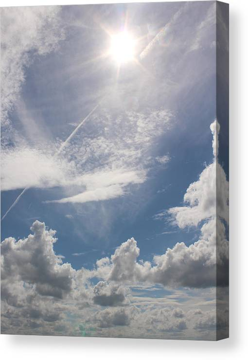 Summer Canvas Print featuring the photograph V Cloud Under The Sun by Rayce Rapoza