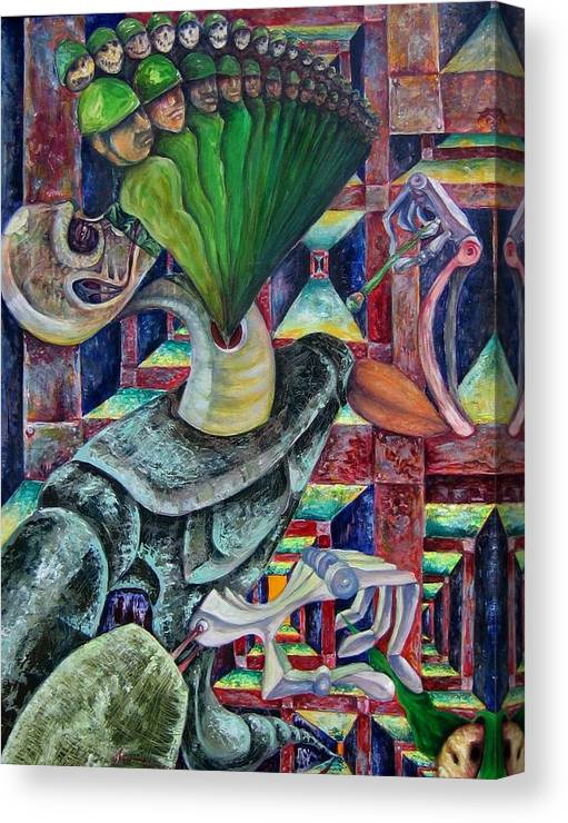 Painting Paintings Canvas Print featuring the painting War Hunger by Horacio Montes