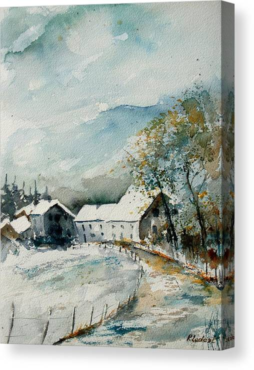 River Canvas Print featuring the painting Watercolor Sechery 1207 by Pol Ledent