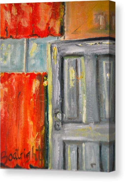 Diane Boatright Canvas Print featuring the painting Window And The Pantry Door by Diane Fiore