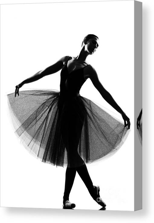 Studio Canvas Print featuring the photograph Beautiful Caucasian Tall Woman Ballet by Ostill Is Franck Camhi