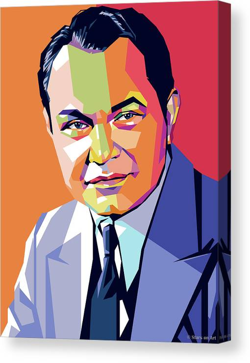 Edward Canvas Print featuring the painting Edward G. Robinson by Stars on Art