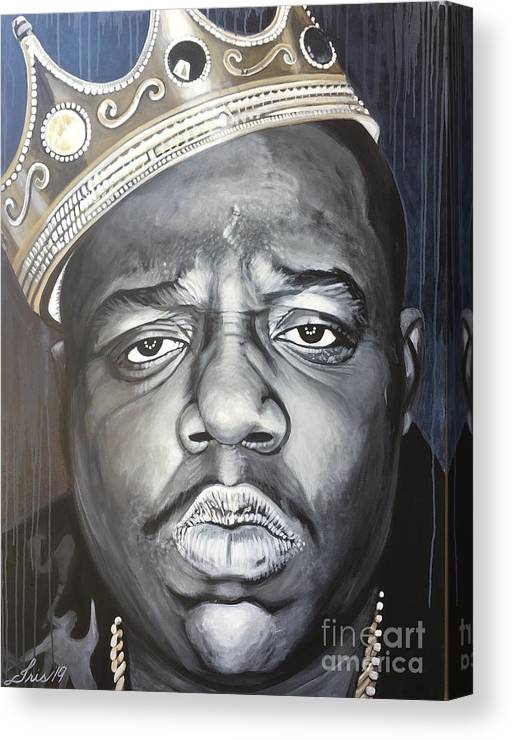 Icon Canvas Print featuring the painting Notorious Big by Iris Ortega
