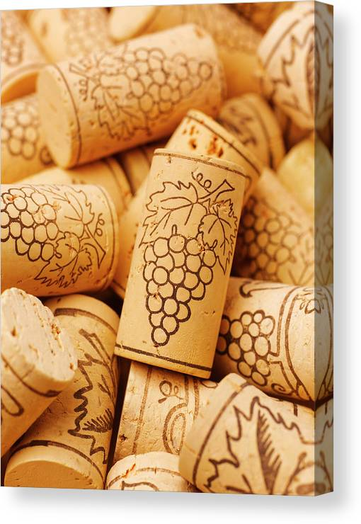 Wine Corks Close Up Full Frame Canvas Print Canvas Art By Peter