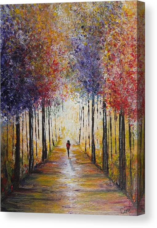 Colors Canvas Print featuring the painting Follow Your Path by Lisa Cini