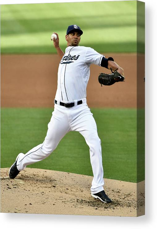 Second Inning Canvas Print featuring the photograph Tyson Ross by Denis Poroy