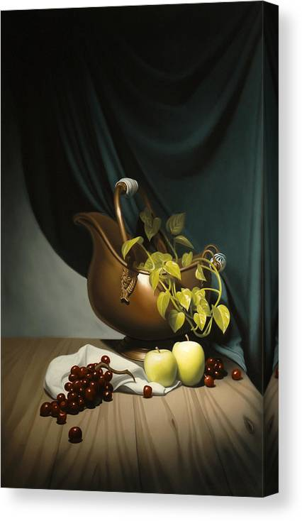 Still Life Painting Canvas Print featuring the painting Still Life Painting Zanndam Evening by Eric Bossik